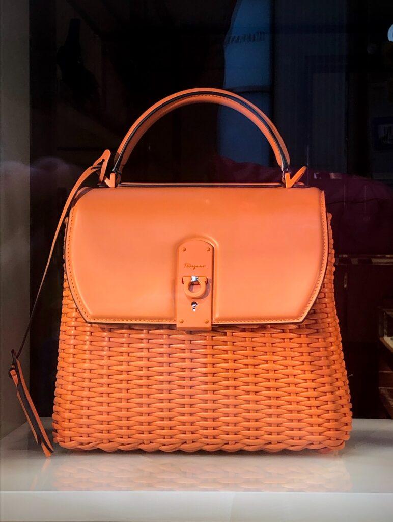 pomarańczowa torebka do jesiennej stylizacji